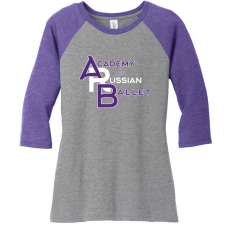 Acad of Russian Ballet 2019 Ladies Triblend 3/4 Sleeve