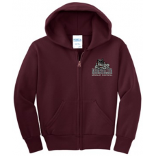 Marsteller 2018 Maroon Hood Zip Sweatshirt